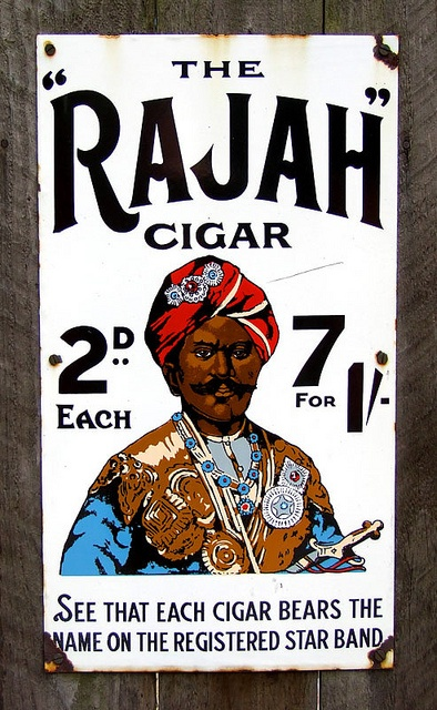 Rajah Cigars Tin Sign by the_bumblebee, via Flickr
