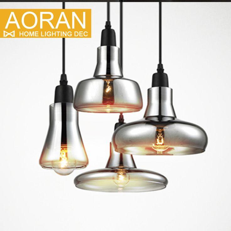 Vintage pendentif en verre lumière gris couleur, couleur claire, ambre couleur pendentif lampes avec ampoules 110 V/220 V led lampes suspendues dans Lampes Suspendues de Lumières et Éclairage sur AliExpress.com | Alibaba Group