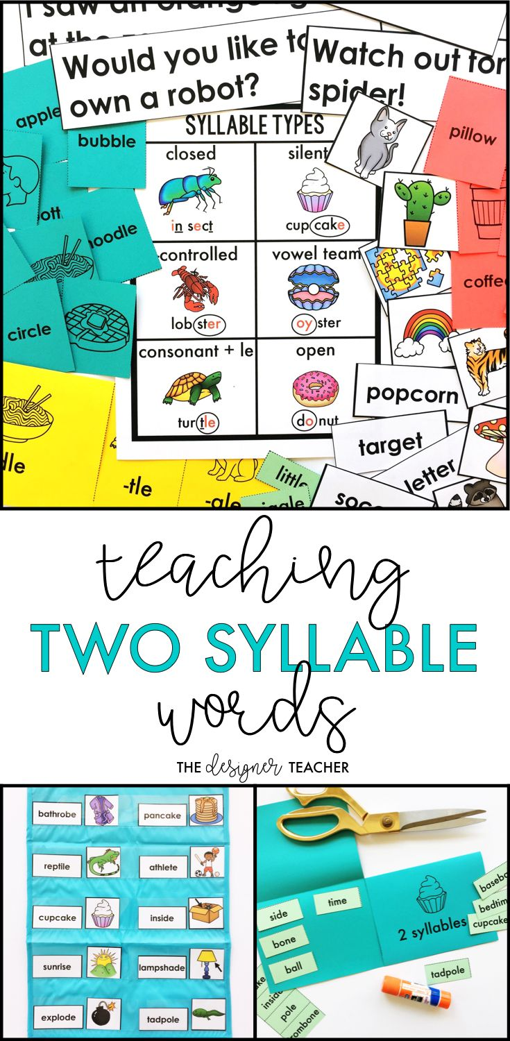 Are you students ready to tackle multisyllable words, but still need explicit phonics instruction and plenty of practice? This six week long unit will get them recognizing syllable patterns and decoding two syllable words with closed, open, r-controlled, vowel team, silent e, and consonant + le syllables with engaging lesson plans, foldables, word work, games, and more. Perfect for small groups, RTI, or special education.