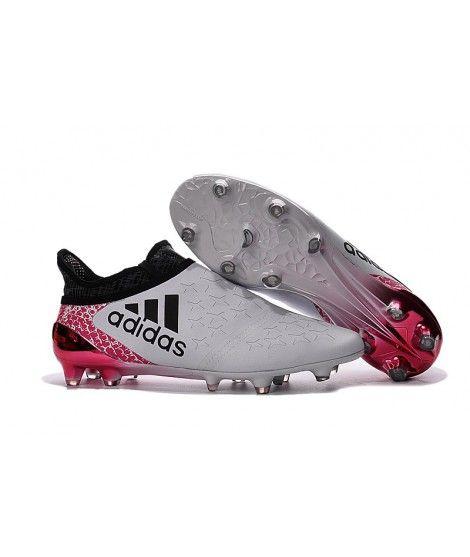 Adidas X 16 Purechaos FG-AG Tacchetti Per Terreni Duri Per Campi In Erba Artificiale Uomo Scarpe Da Calcio Bianco Nero Rosa