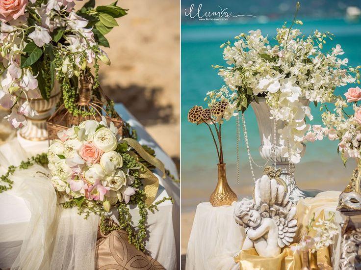 """Свадебная церемония на райском пляже в дизайнерском стиле """"Золото Венеции"""".☎ tel +79667557000 +66842478362 (Viber, Watsapp) www.illumo-event.com"""