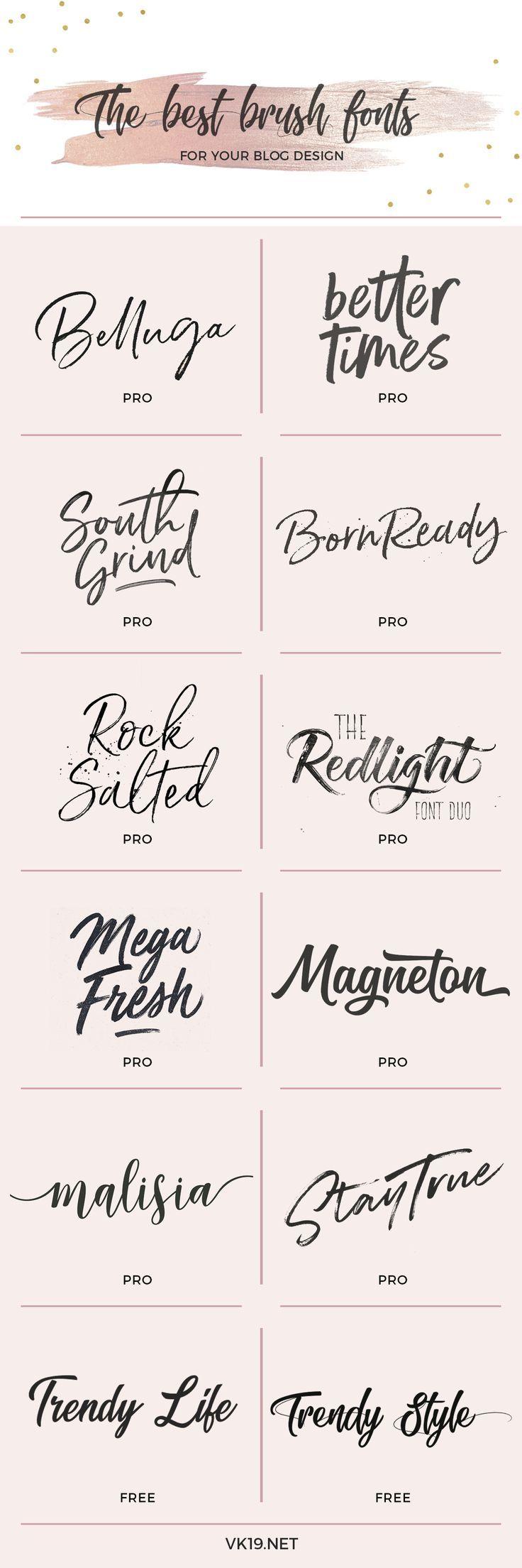 Las mejores fuentes estilo Brush para tu blog o marca personal – Vk19