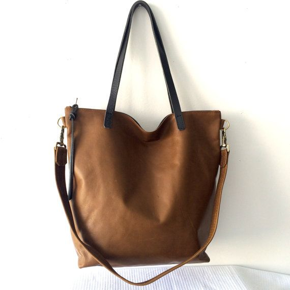 Large Brown leather cross body bag, Leather Hobo Bag