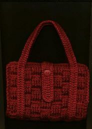 Paperback Totes (2 types) - free vintage crochet pattern  May just have to make a few of these... :-)