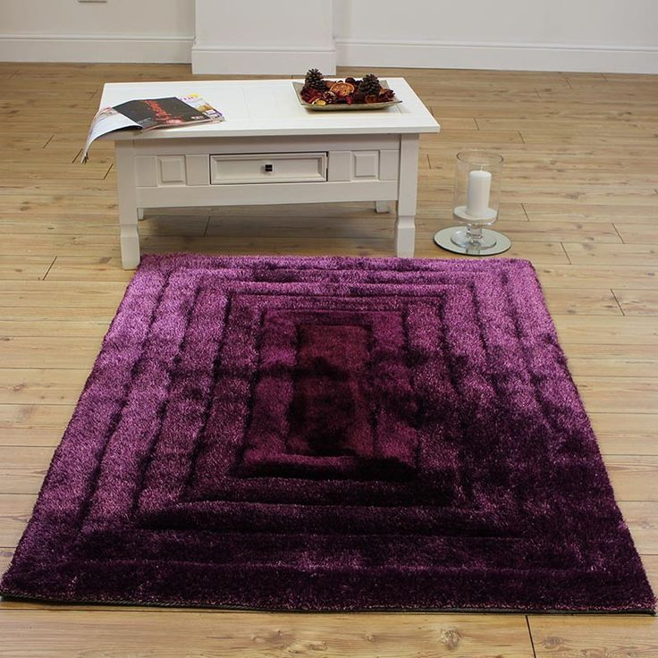 silky soft purple area rug small size