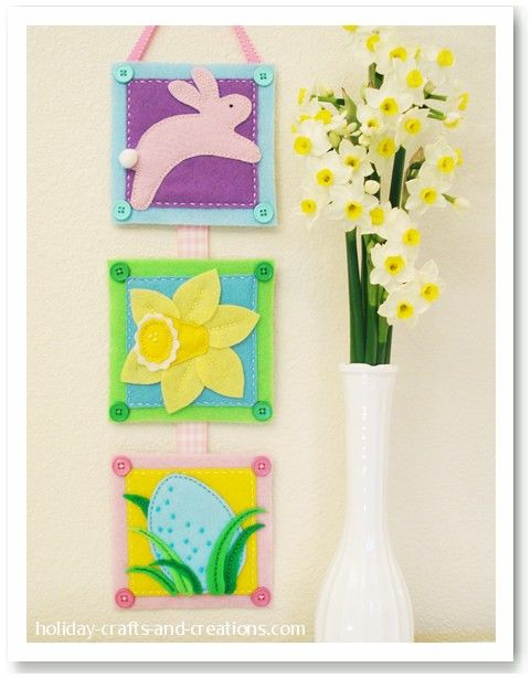 felt easter wall hangingKids Projects, Wall Hanging, Easter Felt, Easter Embroidery, Easter Decor, Embroidery Projects, Easter Wall, Easternext Projects, Easter Sewing Projects
