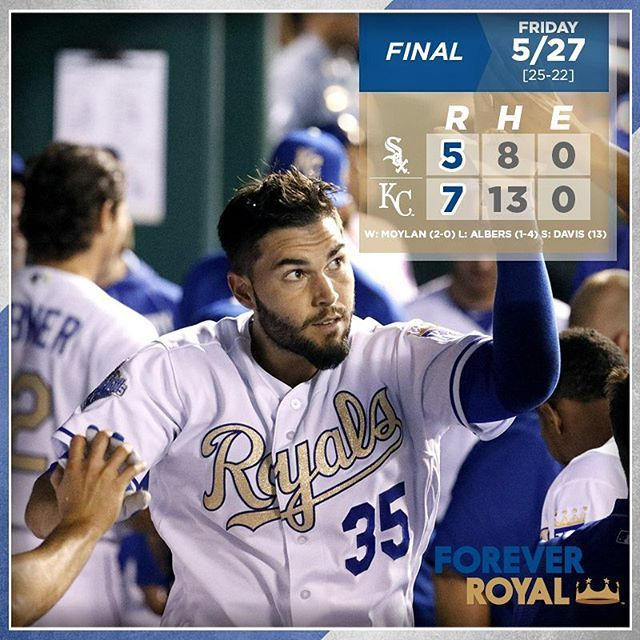Eric Hosmer cracks 9thHR, collects 4 RBIs in #Royals' win over White Sox. #ForeverRoyal