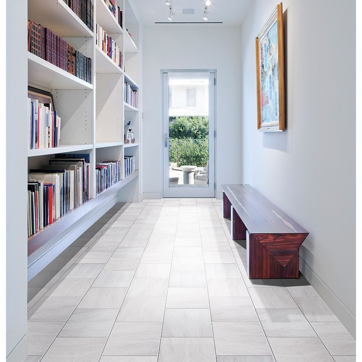Shop gbi tile stone inc aversa frost ceramic floor tile common 12 in x 12 in actual - Lowes floor tiles porcelain ...