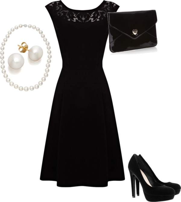 """""""All-Black Dinner Party Outfit"""" by sofiasdiaries on Polyvore"""