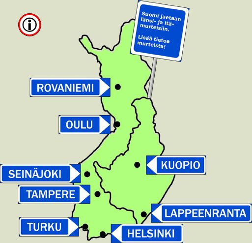 Meillä päin #Suomea. Different dialects from around #Finland