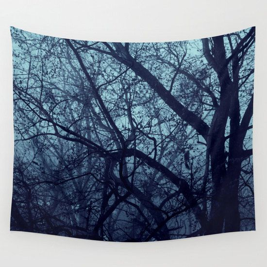 Tree tapestry nature photo tapestry forest by OurArtCloset on Etsy
