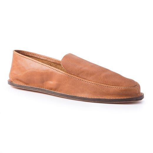 Andrew McAteer Moccasin Veg Tan Leather House Shoe