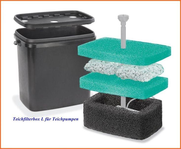 Filterbox Teichfilter für Solarpumpe Teichpumpe Gartenteichpumpe 101715