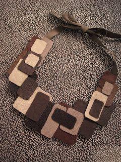 Ceramic Moon: Leather Bib Necklace