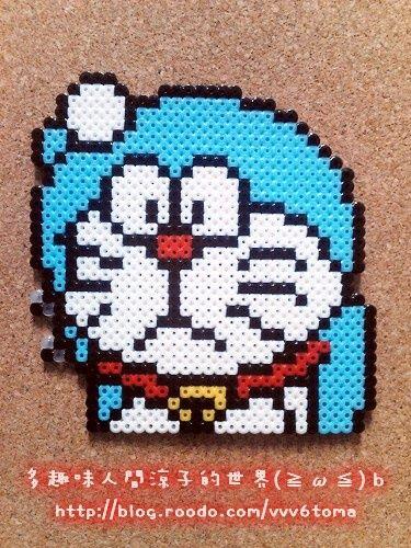 Doraemon hama perler beads by Ryoko