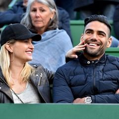 Radamel Falcao and his wife attend Rafael Nadal's match at the Monte Carlo Rolex Masters (333404)