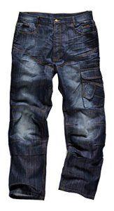 Scruffs Trade Jeans de travail industriel en denim – Taille 30 Longueur 32