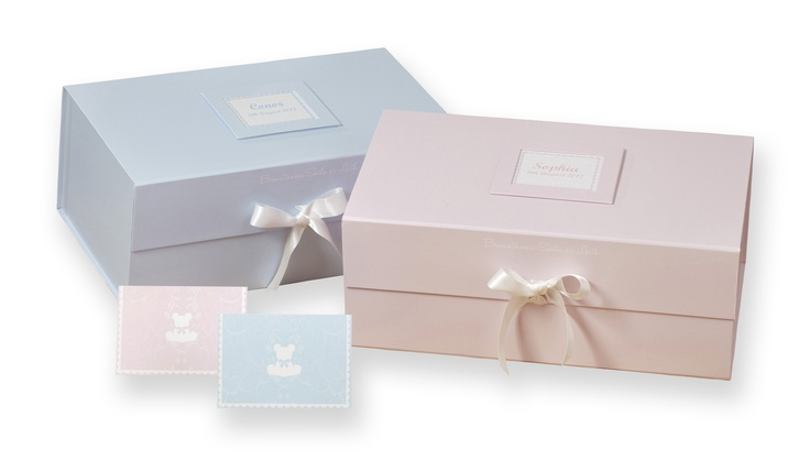 Personalised keepsake boxes from babygifts.ie