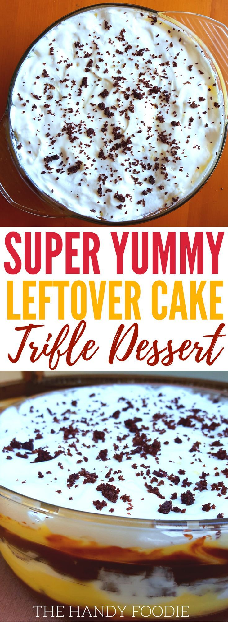 Wow. this chocolate vanilla trifle dessert leftover is so delicious. This is one of those no bake desserts for those chocolate cake dessert lovers. Now, you can make this every holiday season. You can make this as Thanksgiving dessert, Christmas dessert, etc. Definitely pinning! What to do leftover cake ideas #dessert #chocolate #trifle #sidedish