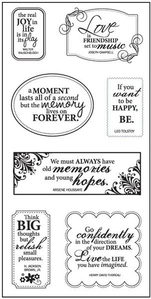 "All Around Quotes - 4"" x 8"" Clear Stamps"