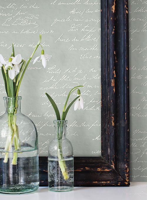 Tapeten kommer från kollektionen Magnolia Home.