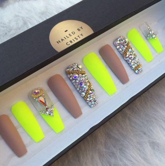 yellow matte nails - photo #43