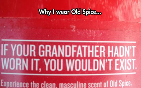 Old Spice Label