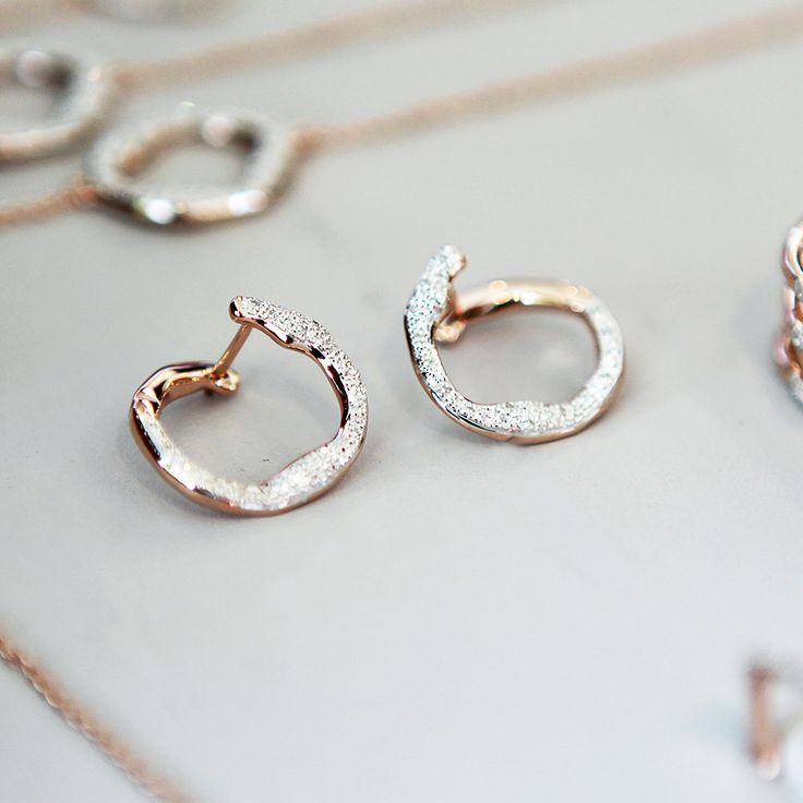Introducing our first wrap around earring styles, the Riva #Diamond Circle #earrings. #MonicaVinader