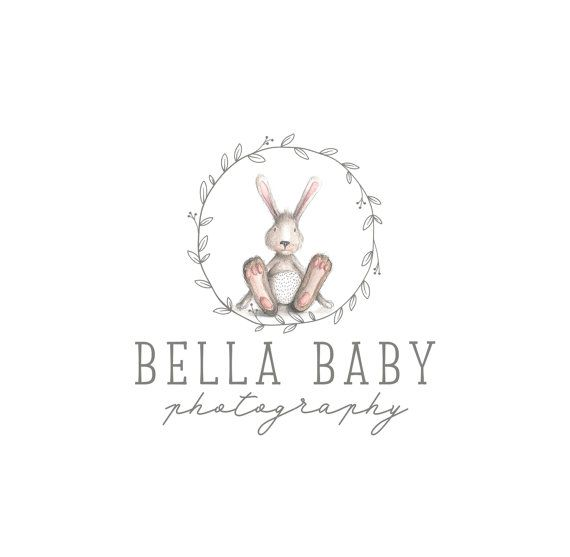 Premade Logo Design, Animal logo, Children Clothing Logo, Cute Bunny Baby Boutique Logo, Photography logo, Blog Header 341