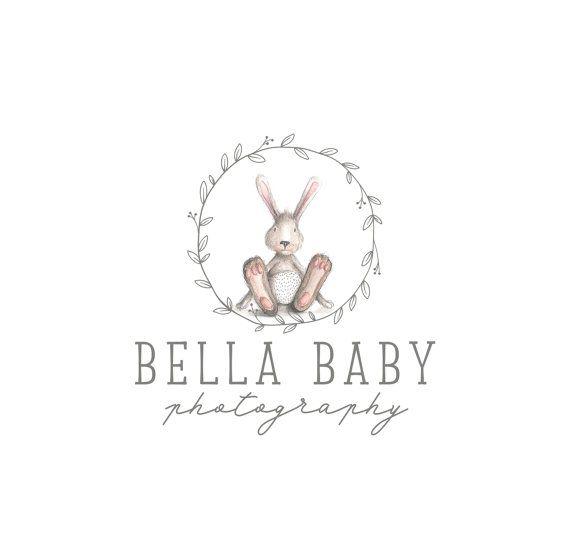 Premade Logo Design, Animal logo, Children Clothing Logo, Cute Bunny Baby Boutique Logo, Photography logo, Blog Header 341