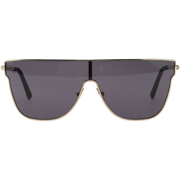 Aviator Sunglasses ($220) ❤ liked on Polyvore featuring accessories, eyewear, sunglasses, black, retrosuperfuture, retrosuperfuture sunglasses, metallic glasses, metal sunglasses and retrosuperfuture glasses