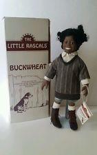 1993 HAMILTON COLLECTION THE LITTLE RASCALS BUCKWHEAT PORCELAIN DOLL