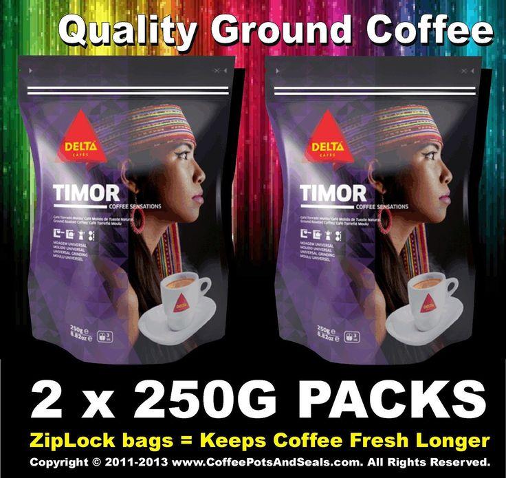 2X 250G 8.8Oz Bag Tasty Timor Espresso Ground Roasted Coffee Expresso Cafe Delta