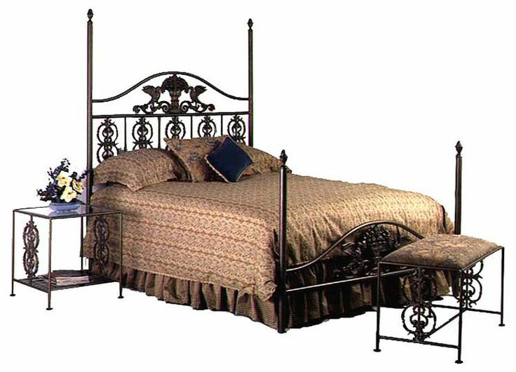 42 best beds images on pinterest home ideas bedroom for Wrought iron four poster bed frames