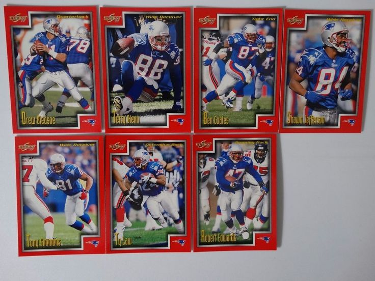 1999 Score Series 1 New England Patriots Team Set of 7 Football Cards #NewEnglandPatriots