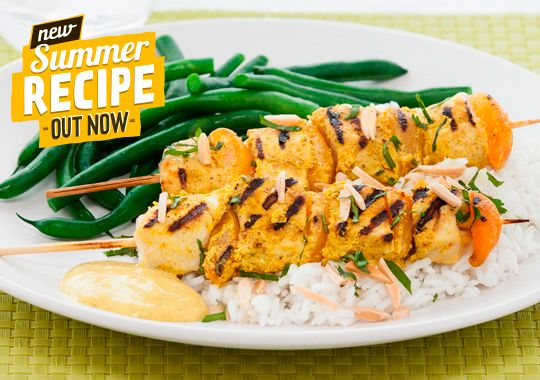 Everyone loves barbecued chicken, and these Coronation Chicken Kebabs are sure to go down a treat. Try it out now.
