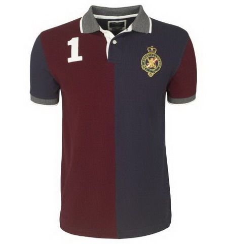 ralph lauren uk outlet Hackett London Half Split Polo Shirt Dark Red / Black http://www.poloshirtoutlet.us/