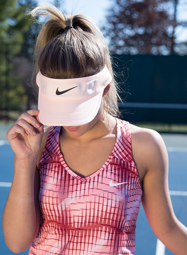 fa133e73a5d609 The Women's Nike Aerobill Featherlight Tennis visor is adjustable for a  customized fit, and is