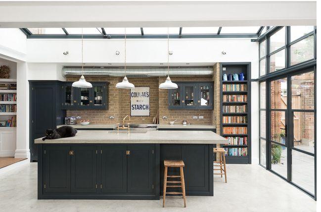 Kitchen: windows, roof, bookshelf
