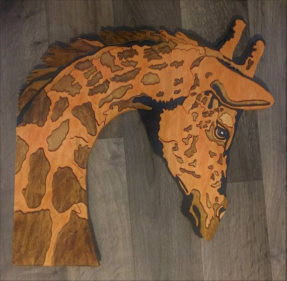 """Giraffe made from 1/2"""" wood by Wood Art by TAM."""