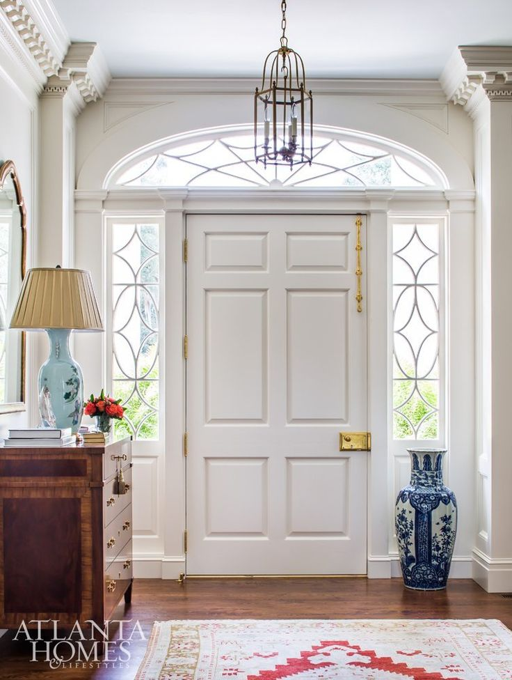 you see how the foyer looks reversed. Just a little added wall makes all the difference.