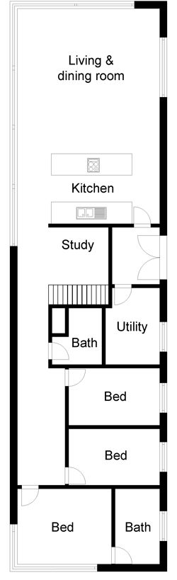 Three bed house plans