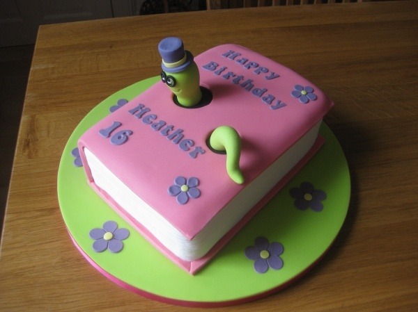 Boekenworm taart - enkel foto