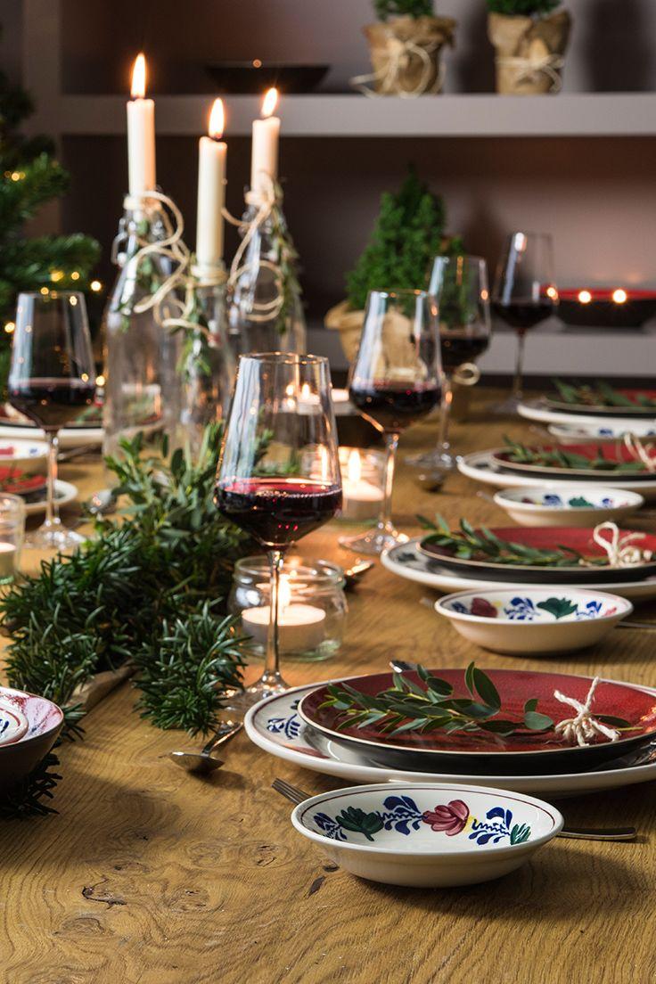 Combineer je Boerenbont servies met Colour Your World voor een mooi gedekte tafel in kerstsfeer. Kijk verder voor het assortiment.