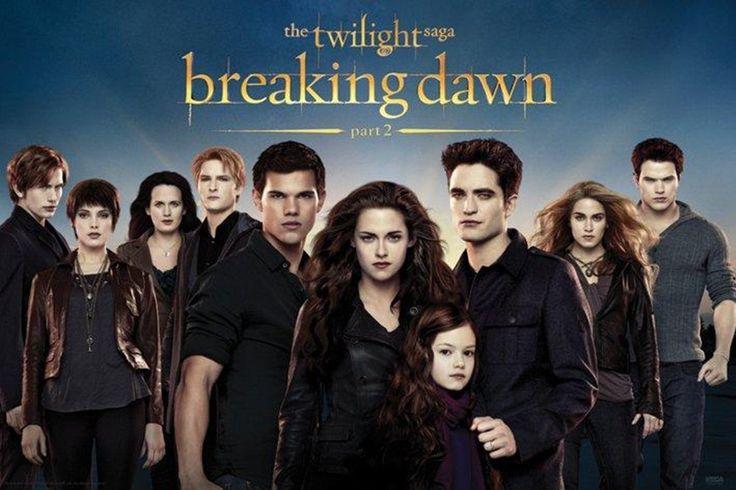 The Twilight Saga - Breaking Dawn: Part 2 (From Left To Right) Jasper Cullen, Alice Cullen, Esme Cullen, Carlisle Cullen, Jacob Black, Bella Cullen, Reneesme Cullen, Edward Cullen, Rosalie Cullen & Emmett Cullen