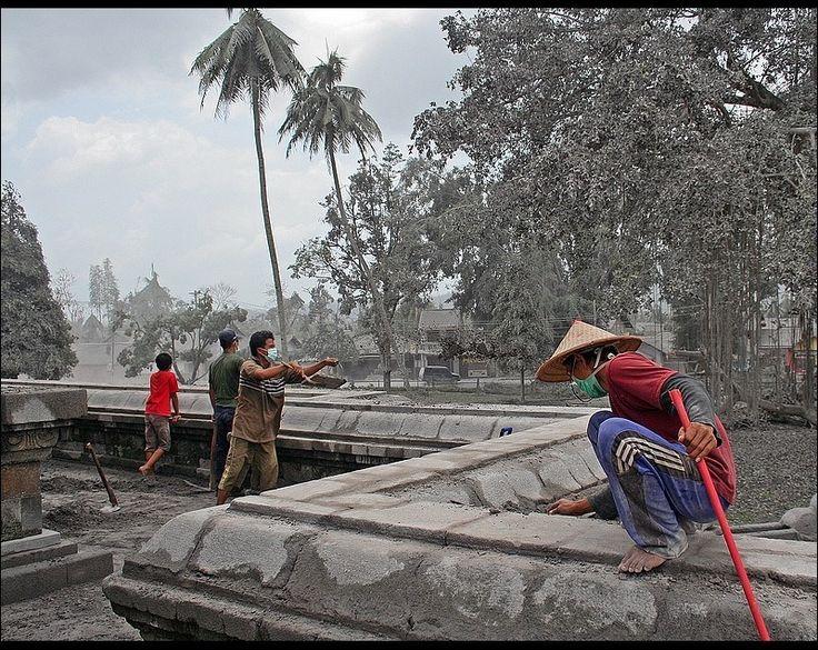 Landscape after explosion - Borobudur, Yogyakarta