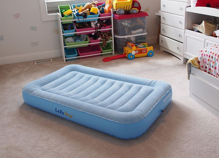 Inflatable Kids Travel Bed Toddler Child Airbed Portable Hand Pump Air Mattress