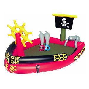 Pirate Paddling Pool Play Inflatable Water Ship Garden Summer Bestway Large