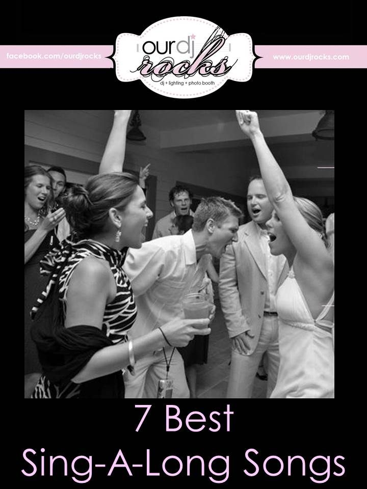 Wedding Songs Reception Sing A Long Party Song Suggestions By Ourdjrocks Orlando DJ Lightin