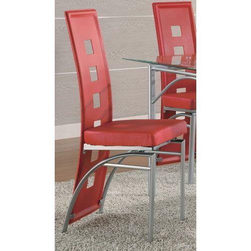 Los Feliz Red Dining Chair, Set of 2